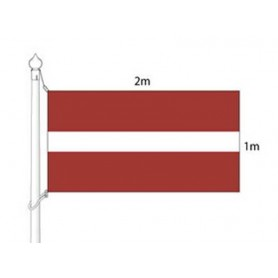 Latvian national flag (flag mast) 2x1m