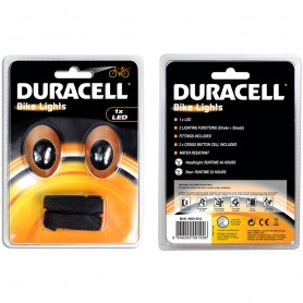 Bicycle front and rear light DURACELL 1 LED