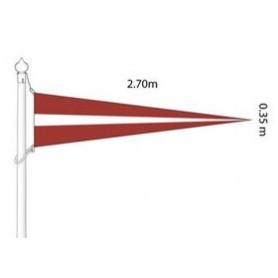 Latvian national flag, pennant (flagpole) 2.6 x 0,35m