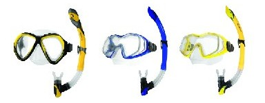 Niršanas maskas un elpošanas trubiņas